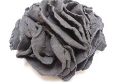 Essai, grès noir, diamètre13cm.