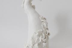 Arbre, porcelaine, hauteur 25cm.