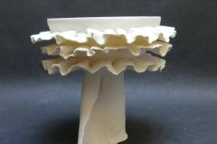 Bols à voilettes, porcelaine, diamètre 12cm, hauteur 15cm.